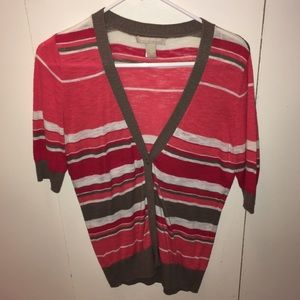 Small Banana Rep striped cardigan